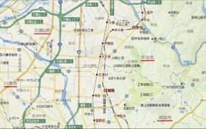 京都府久世郡久御山町の周辺地図