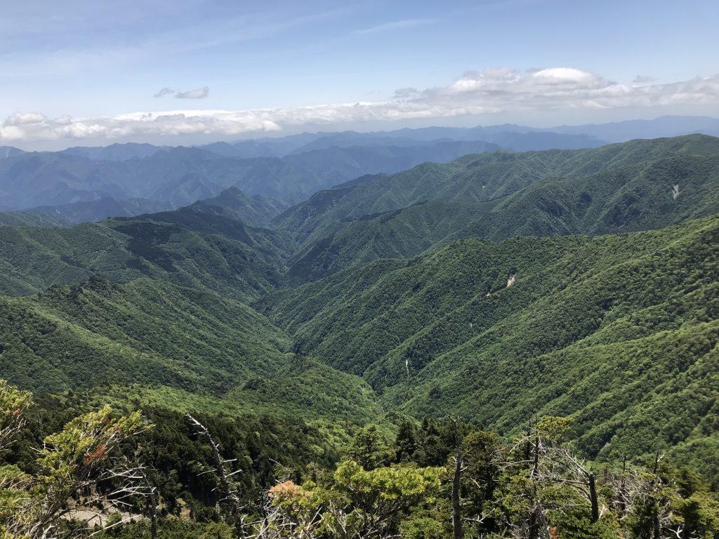 大峰山,八経ヶ岳,山頂,景色