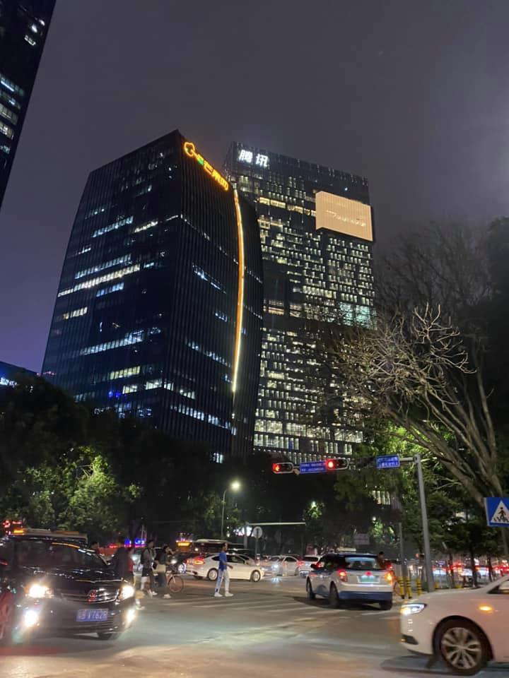 深セン,深圳,夜景,テンセント,腾讯,騰訊,Tencent