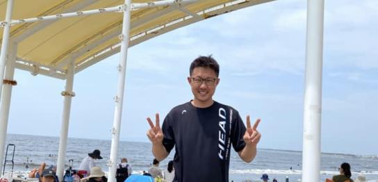 江ノ島,江ノ島ビーチ,湘南,海水浴,福田健児