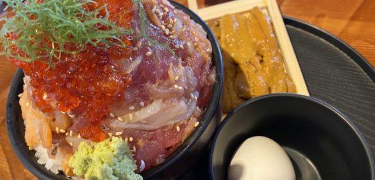 伊豆高原ビールの海鮮丼