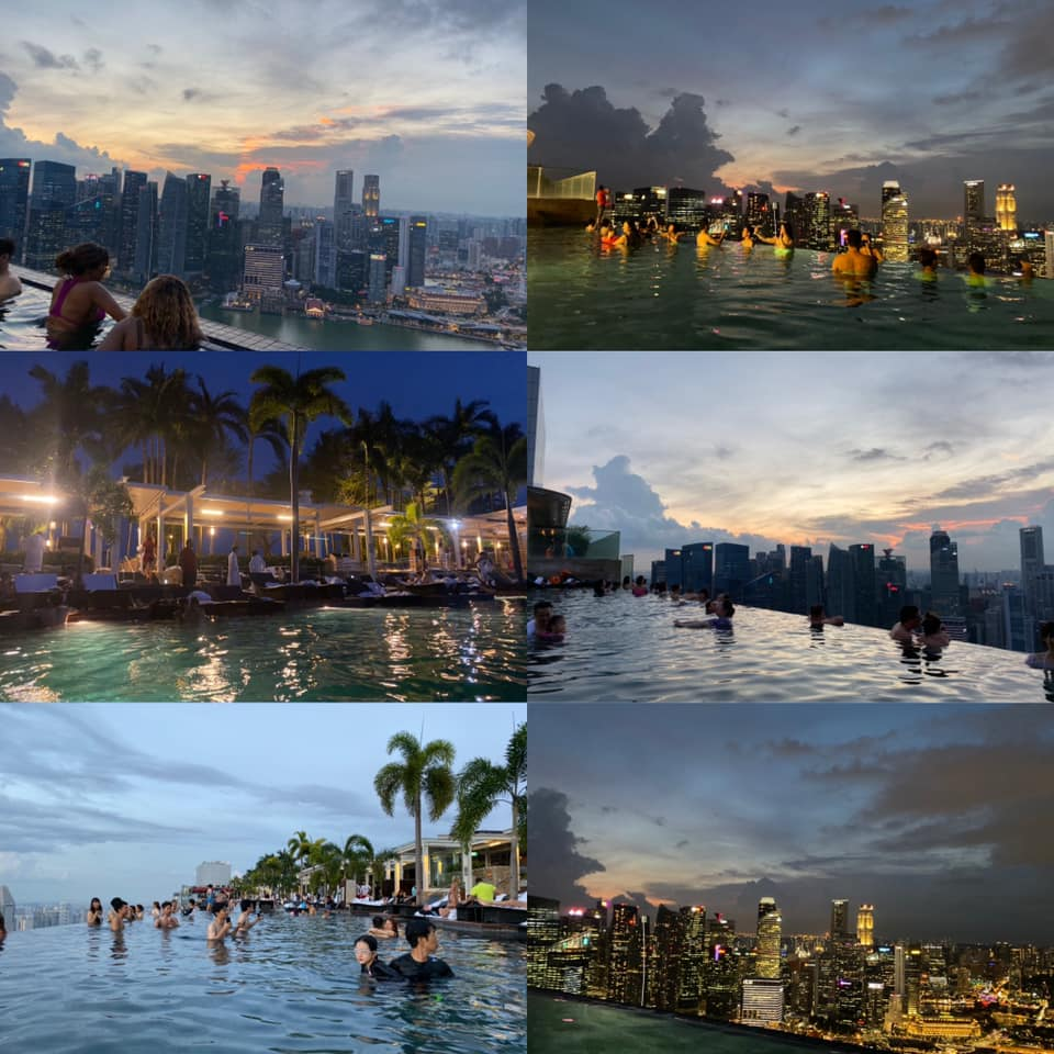 シンガポール,マリーナベイサンズ,船の上にあるプール,プール
