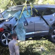 タイガー・ウッズが運転していた事故車両