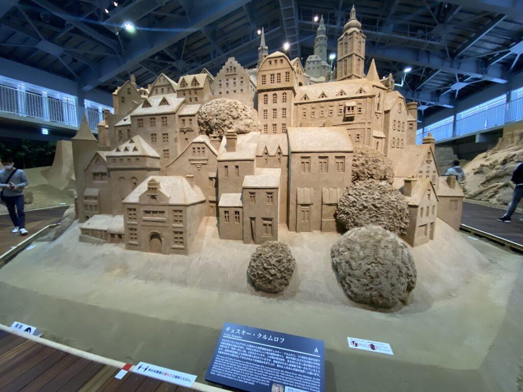 砂の美術館「チェコ&スロバキア編(Czechia&Slovakia)」チェスキー・クルムロフ(制作者:ケビン・クロフォード)