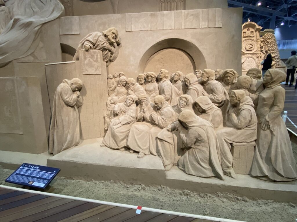 砂の美術館「チェコ&スロバキア編(Czechia&Slovakia)」ヤン・フスと火刑(制作者:マリエレ・ヒーセルス)