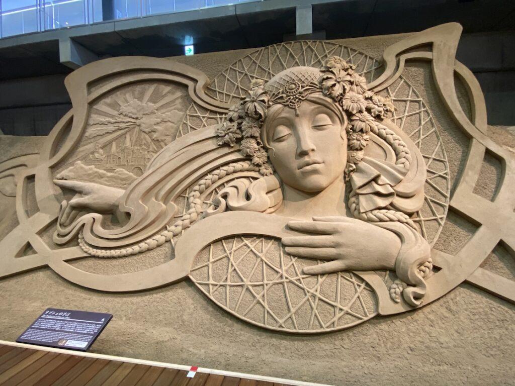 砂の美術館「チェコ&スロバキア編(Czechia&Slovakia)」リブシェの予言(制作者:イリヤ・フィリモンツェフ)