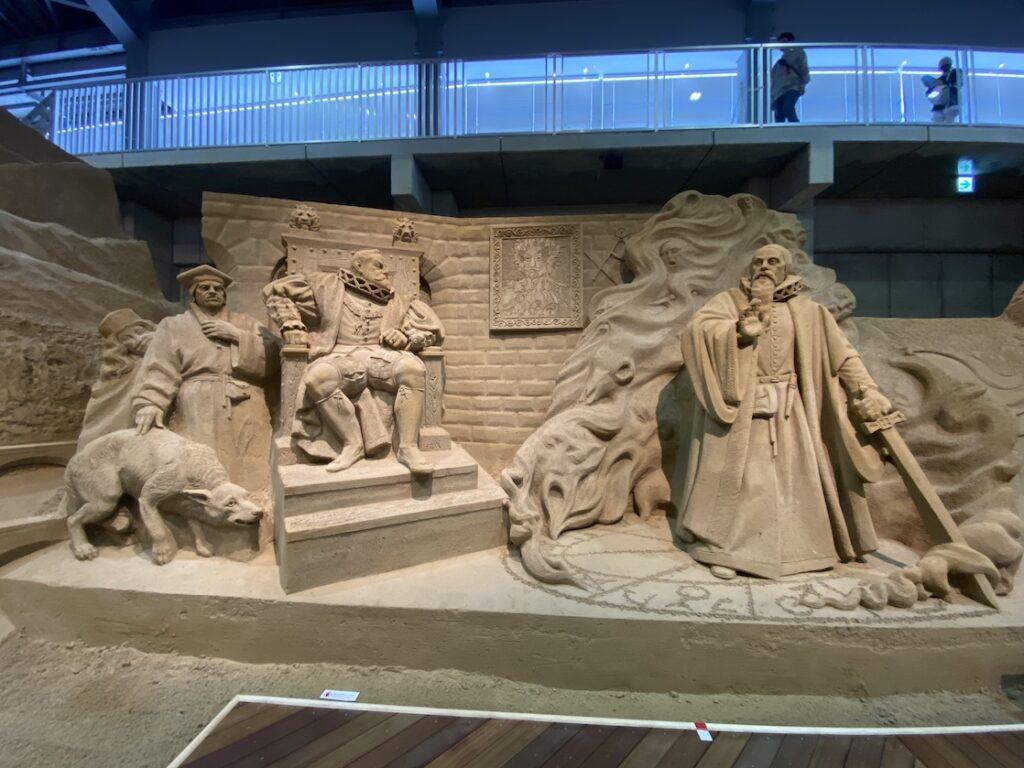 砂の美術館「チェコ&スロバキア編(Czechia&Slovakia)」ルドルフ2世とルネサンスの影響(制作者:ドミトリー・クリメンコ)