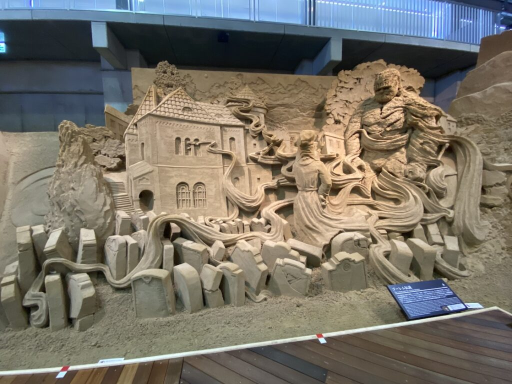 砂の美術館「チェコ&スロバキア編(Czechia&Slovakia)」ゴーレム伝説(制作者:ヨーリス・キヴィッツ)