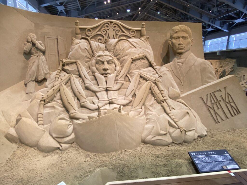 砂の美術館「チェコ&スロバキア編(Czechia&Slovakia)」文学「フランツ・カフカ」(制作者:ヤクブ・ジマチェク)