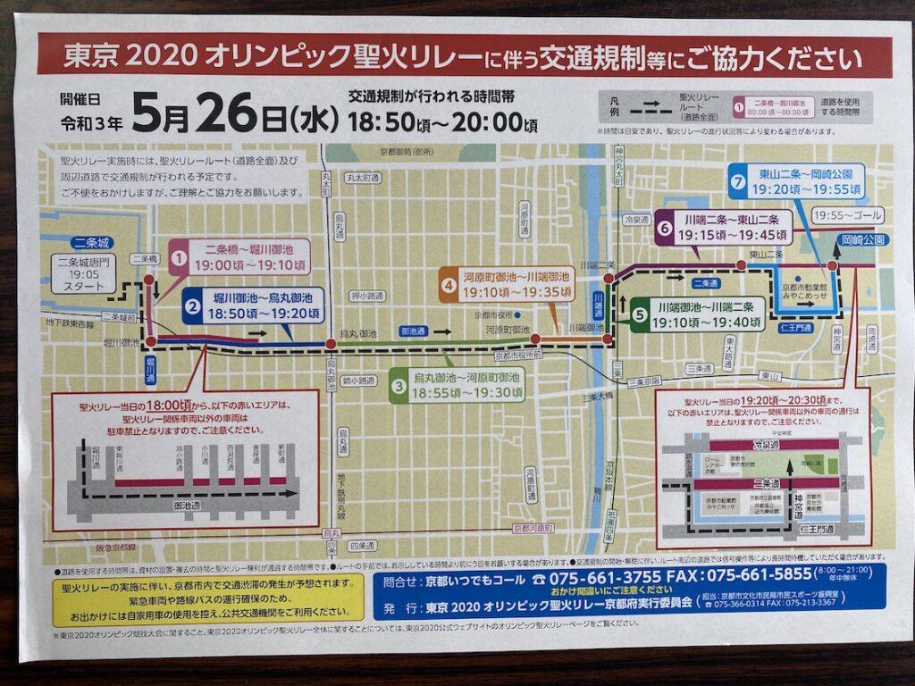 京都市の聖火リレーのルート